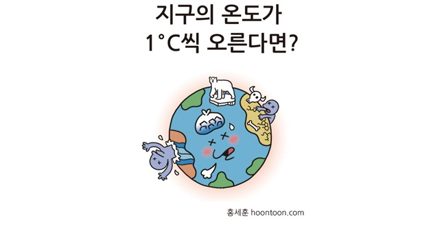 지구의 온도가 1℃씩 오른다면?