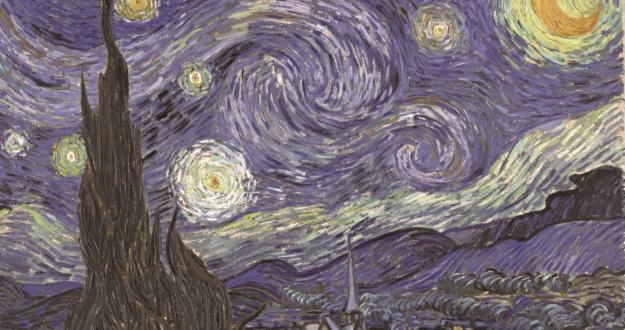 홀로, 처절하게, 광기 내뿜으며 우주를 향한 붓 터치의 격렬함